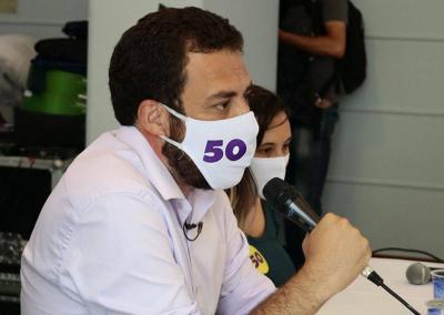 Boulos testa positivo para covid-19 e propõe debate virtual à TV Globo
