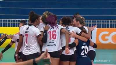 Sesc-Flamengo inicia o returno da Superliga Feminina com vitória sobre o lanterna São Caetano