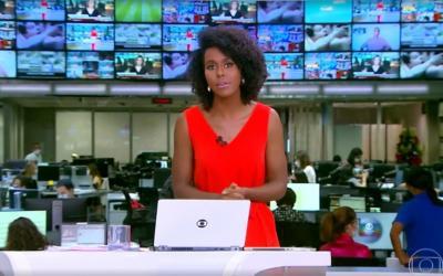 Cena de sexo é exibida ao vivo atrás de Maju Coutinho no 'Jornal Hoje'