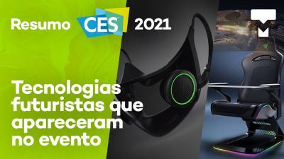 """""""Máscara mais inteligente do mundo"""" com LED RGB e mais tecnologias malucas da CES 2021"""